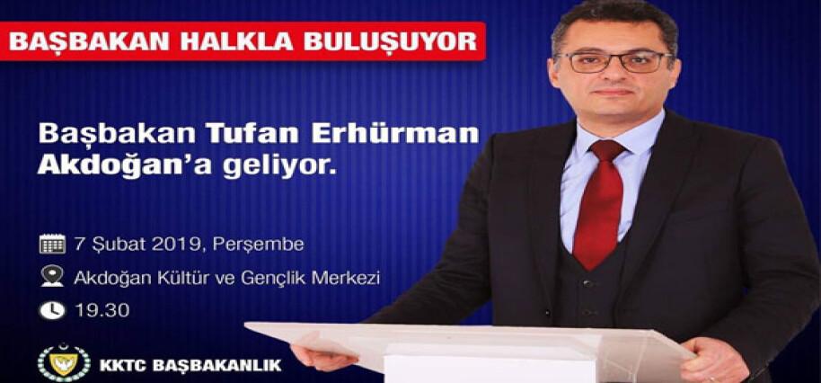 Başbakan yarın Akdoğan'da halkla görüşecek