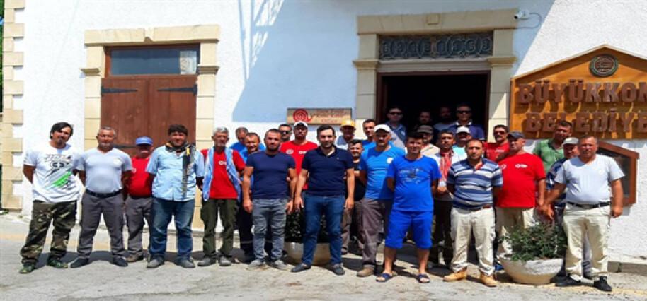 DEV-İŞ, Büyükkonuk Belediyesi'nde iş bırakma eylemi yaptı