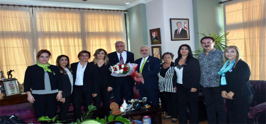 Güngördü, Girne Vatan Lions Kulübü heyetini kabul etti