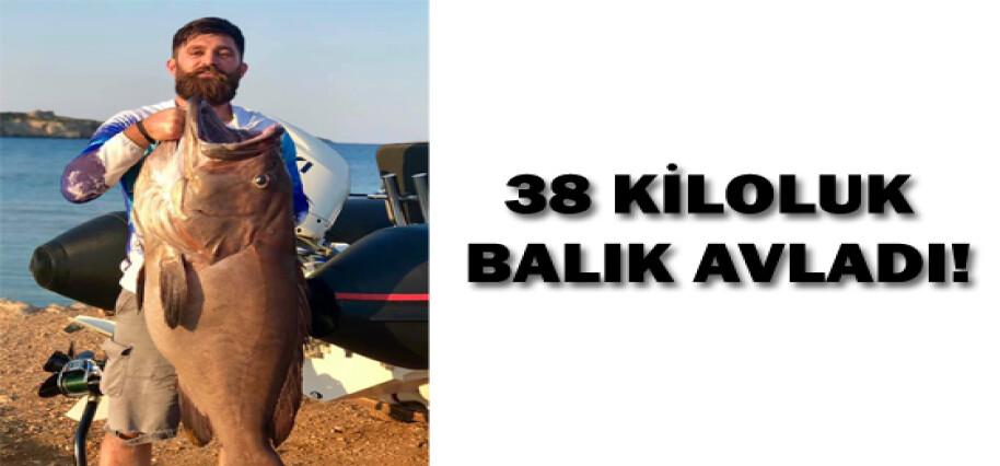 Karpaz açıklarında 38 kiloluk balık yakaladı!