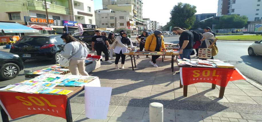 Sol Hareket, Mağusa'da kitap pazarı etkinliği düzenledi