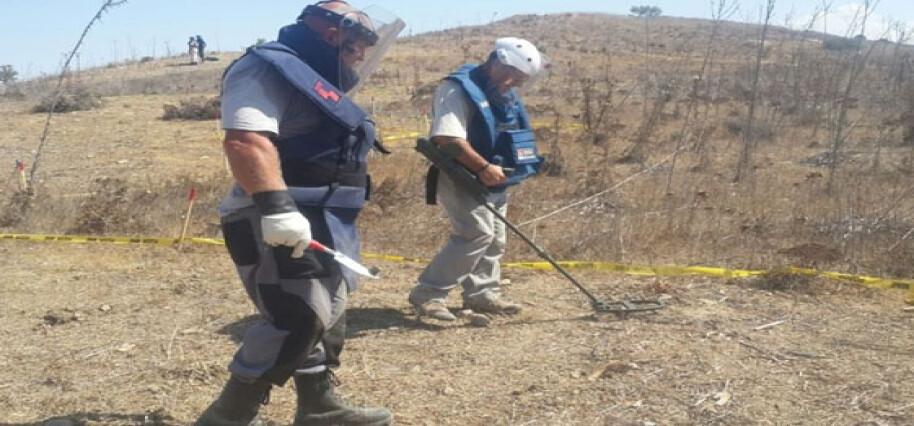 GKK, Alayköy bölgesinde ara bölgedeki mayın tarlasının temizlendi