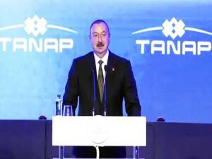 """TANAP Avrupa'ya bağlandı... Azerbaycan Cumhurbaşkanı Aliyev: """"Bugün tarihi bir gün"""""""
