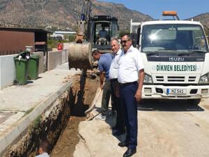 Dikmen Belediyesi, yağmur suyu drenaj çalışmalarına devam ediyor
