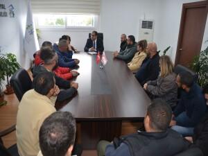 KKTC Hava Sporları Federasyonu Çalışanları, Sucuoğlu'na sıkıntılarını aktardı