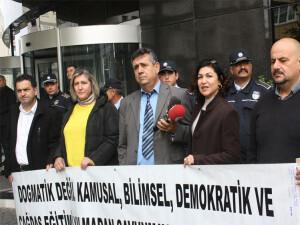 Öğretmen sendikalarından 'Vizyon 2030 Eğitim Strateji Planı Çalıştayı' protestosu