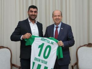 Tatar, Dörtyol Spor Kulübü yöneticilerini kabul etti