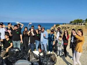Girne Evkaf İyilik Gönüllüleri'nin başlatığı aylık temizlik kampanyası sona erdi