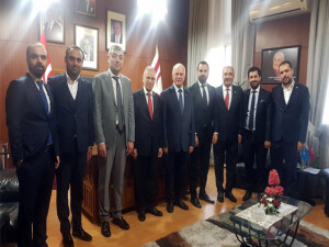 Töre, Avrupa ve Türkiye'den gelen iş insanlarını kabul etti