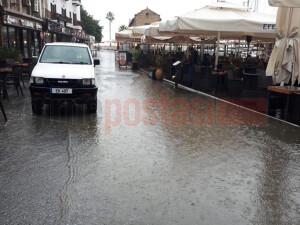 Girne Antik Liman yoğun yağış etkisi altında