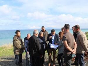 Yeşilırmak'ta balıkçı barınağı için yer tespiti yapıldı