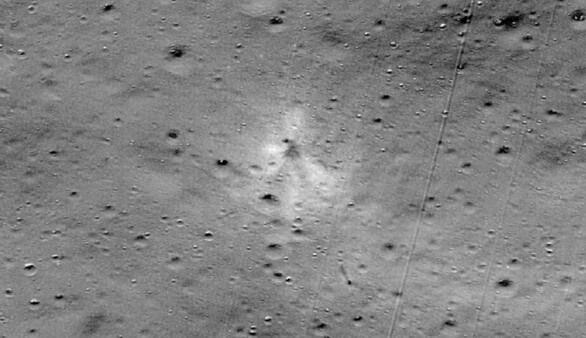 Ay'a inerken kaybolan araç bulundu