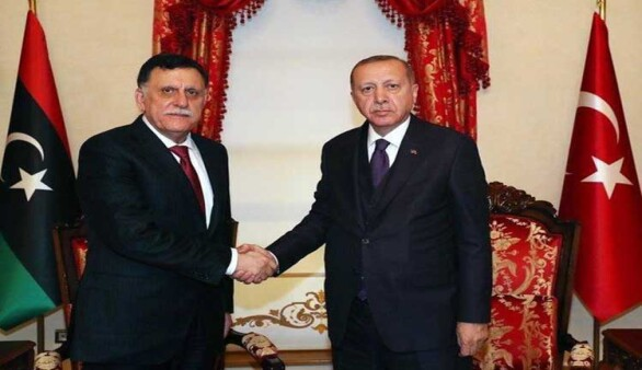 Erdoğan, Libya Ulusal Mutabakat Hükümeti'nin Başkanı Sarraj'ı ağırladı