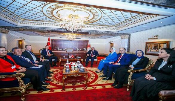 Meclis Başkanı Uluçay, TBMM Başkanı Şentop ile görüştü