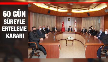 Bakanlar Kurulu'ndan Ercan'da yapılacak grevin ertelenmesi kararı