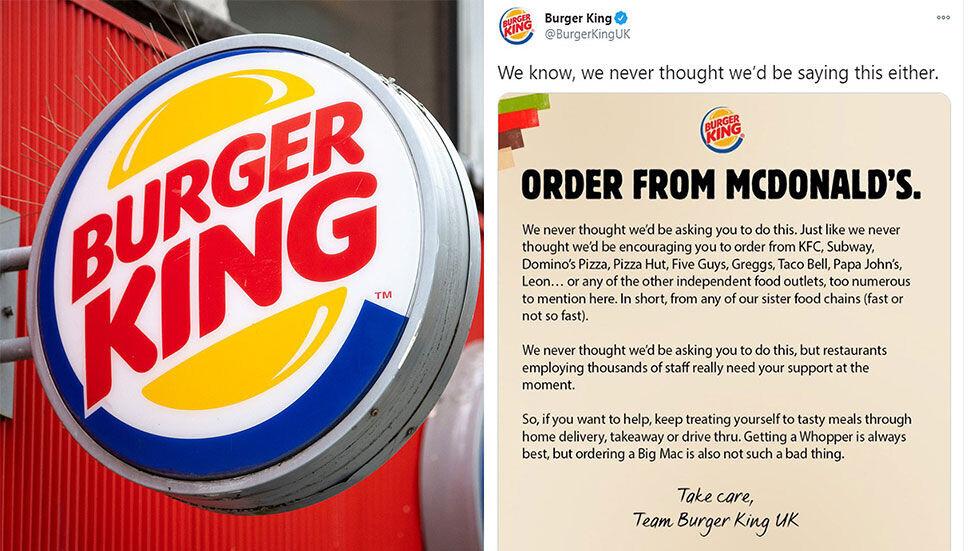 "Burger King İngiltere: ""McDonald's'dan sipariş verin"""
