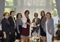 Meral Akıncı, Kıbrıs Türk Kadınlar Birliği heyetini kabul etti