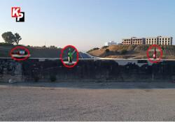 Çevre yolunun köprü duvarında bırakılan cam şişeler, kazaya davetiye çıkarıyor
