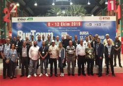 Çiftçiler Birliği heyeti Bursa'da fuara katıldı