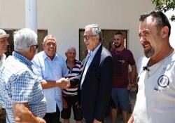 Cumhurbaşkanı Akıncı Kozanköy'ü ziyaret etti