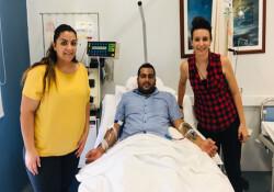 Donör Hasan Çolakoğlu'ndan kanser tedavisi gören bir hastaya kök hücre bağışı