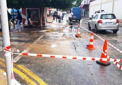 Girne Atatürk Caddesi trafiğe kapatıldı