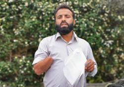 Girne'de elini kaybeden işçi hakkını arıyor: Erdoğan'a seslendi