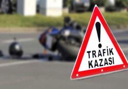 Girne'de meydana gelen kazada motor sürücüsü yaralandı!