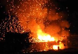 Çatalköy'deki patlama Türkiye'den bile görüldü