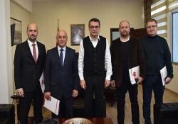 """Gönyeli Belediyesi """"Yağmur Suyu Risk Değerlendirme Raporu""""nu Başbakan Tufan Erhürman'a sundu"""