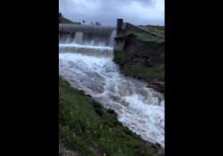 Kanlıköy barajı taştı