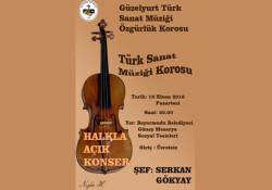 Beyarmudu'nda Pazartesi akşamı Türk Sanat Müziği konseri var