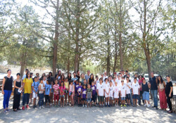 Lefkoşalı çocuklar, Taşkent Doğa Parkı'nda yaban hayatını tanıdı