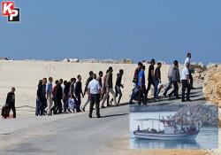 7 metrelik teknede 24 mülteci