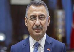 TC Cumhurbaşkanı Yardımcısı Oktay, Ercan Havalimanı yeni terminal binasının inşaatında incelemelerde bulundu