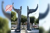 Lefkoşa'nın yeni heykeli... Destek de var eleştiri de...