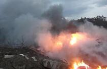 Vadili-Yigitler köyleri arasında çöplük alanda çıkan yangın kontrol altına alındı