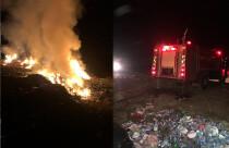 Geçitkale'de çöplük yangını!