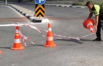 Haspolat kavşağında trafik tek şeritten verilecek