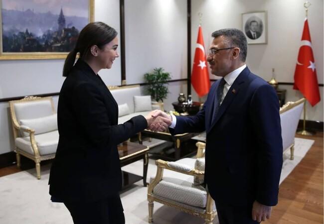 Baybars, Türkiye Cumhurbaşkanı Yardımcısı Oktay ile görüştü
