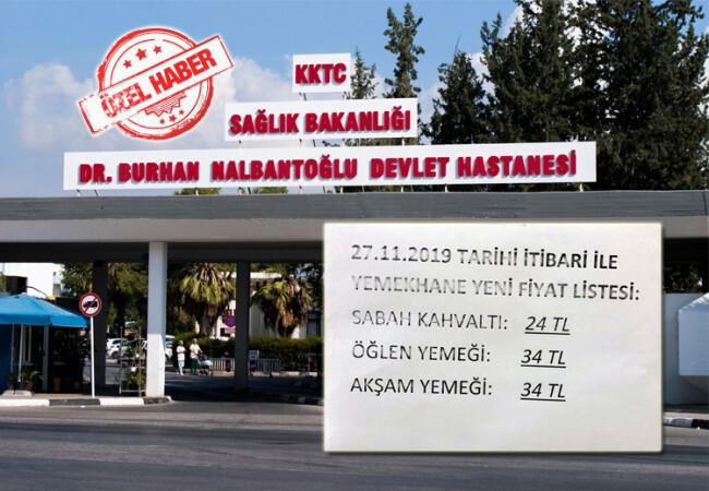Yemekhane fiyatları Hastane personelini isyan ettirdi