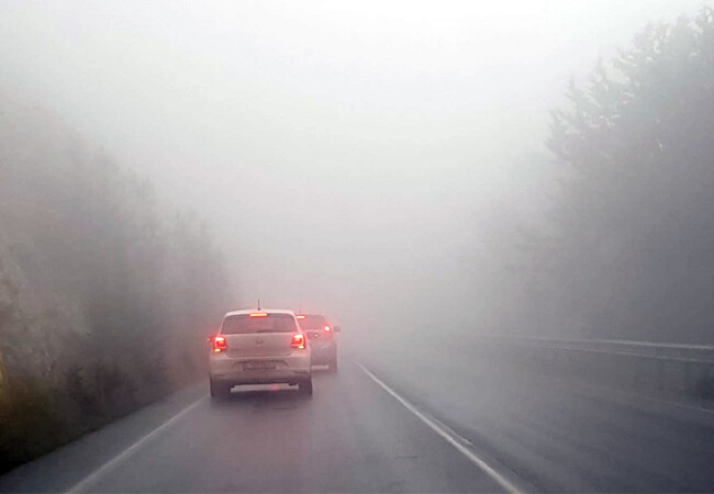Girne Dağyolunda yoğun sis!