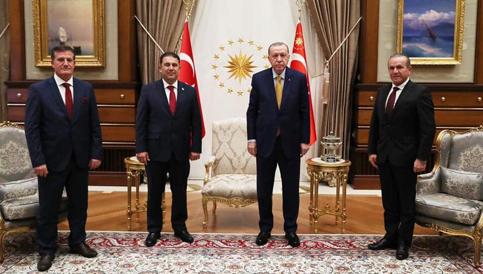 Erdoğan ve Başbakan Ersan Saner'in görüşmesi bir buçuk saat sürdü