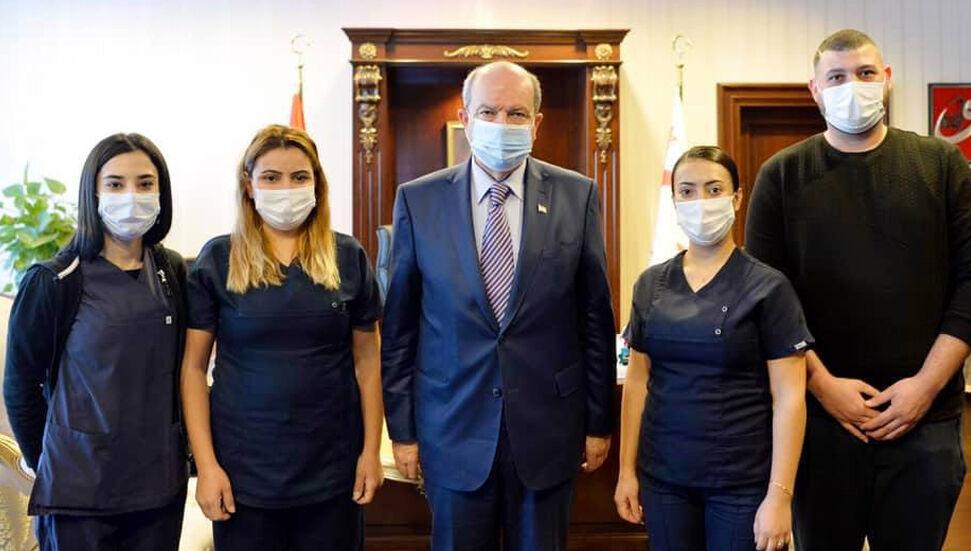 Ο Πρόεδρος Ersin Tatar είχε ένα τεστ PCR